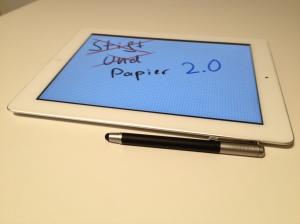 """iPad ist """"nur"""" Papier 2.0"""