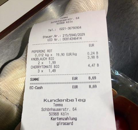 Einkaufen im Supermarkt - Papierlos
