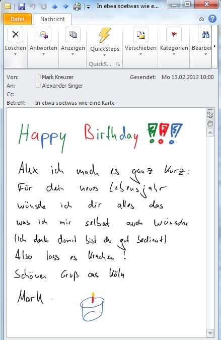 Geburtstagskarte ohne Papier | microle Onenote