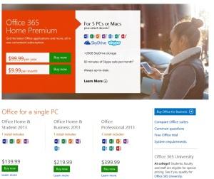 Office2013 Bezugspreise
