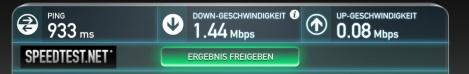 Speedtest Lufthansa FlyNet