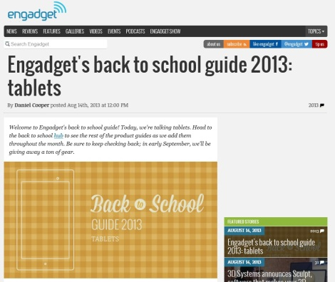 Engadget Back2School Tablet