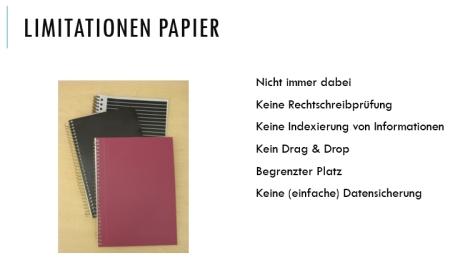 Papier-Limitationen