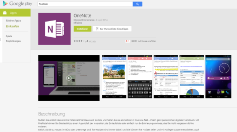 Android OneNote