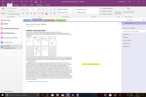 OneNote Copy Paste