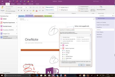 OneNote virtueller Drucker